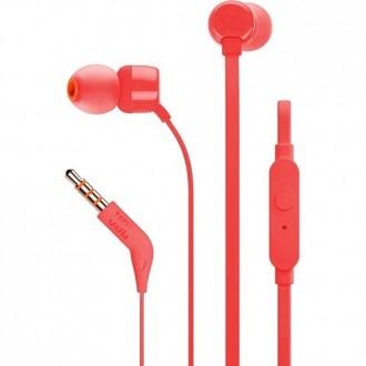 Слушалки JBL T110 ,червени