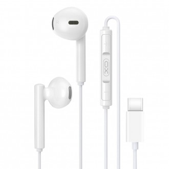 Слушалки с микрофон XO EP8 USB Type C бели