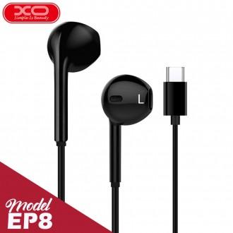 Слушалки с микрофон XO EP8 USB Type C черни