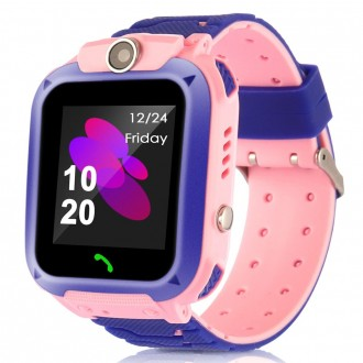Смарт часовник за деца Q12 ,розов