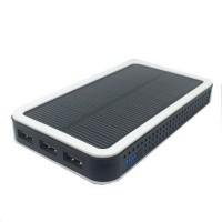 Соларна външна преносима батерия 12000 MAH Power Bank черна