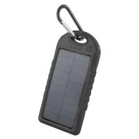 Соларна външна преносима батерия 5000 MAH Forever Power Bank черна STB-200