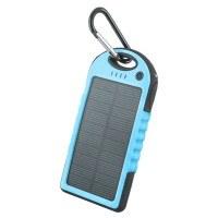 Соларна външна преносима батерия 5000 MAH Setty Power Bank синя