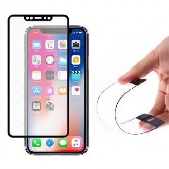Стъклен нано протектор Wozinsky  за iPhone XS / iphone X черна рамка