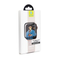 Стъклен протектор Mr. Monkey (Hot Bending) за Apple Watch 1/2/3 38mm черен