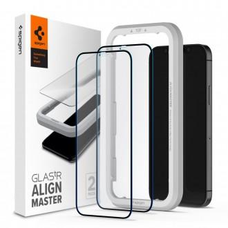 Стъклен протектор Spigen Alm Glas FC за iPhone 12 Pro Max - 2 броя
