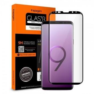 Стъклен протектор Spigen curved HD за Samsung S9 Plus