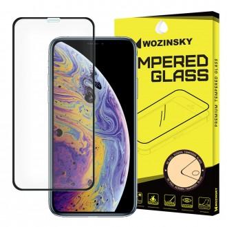 Стъклен протектор за целият екран 5D Wozinsky Full Glue за iPhone XS / X черена рамка