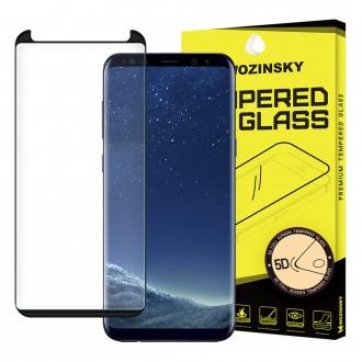 Стъклен протектор за целият екран 5D Wozinsky Full Glue за Samsung G955 S8 Plus, черена рамка