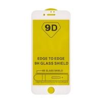 Стъклен протектор за целият екран 9D за iPhone 6 / iPhone 6S, бяла рамка