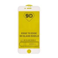 Стъклен протектор за целият екран 9D за iPhone 7 / iPhone 8 / iPhone SE 2020, бяла рамка