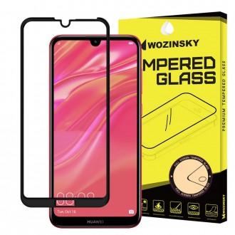 Стъклен протектор за целият екран Wozinsky Full Glue 5D за Huawei Y7 2019 / Y7 Prime 2019, черна рамка