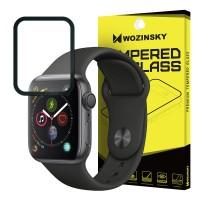 Стъклен протектор за целият екран Wozinsky Full Glue за Apple Watch 4 44mm ,черна рамка