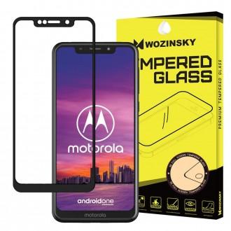Стъклен протектор за целият екран Wozinsky Full Glue за Motorola One ,черна рамка