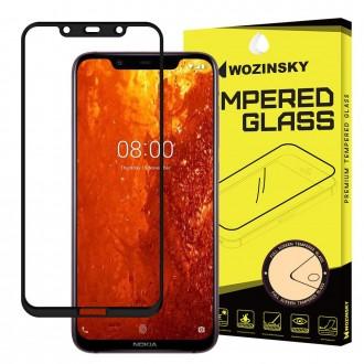 Стъклен протектор за целият екран Wozinsky Full Glue за Nokia 8.1,черна рамка
