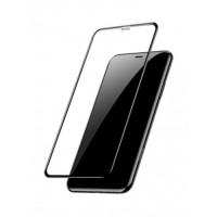 Стъклен протектор за целият екран XO FC5 Invisible 2.5D за iPhone XR / 11 черен