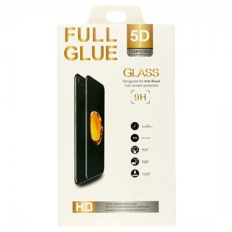 Стъклен протектор за целият екран за Huawei P Smart черен 5D