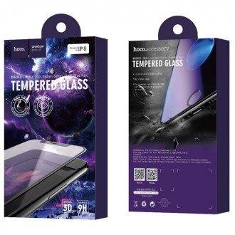 Стъклен протектор за целият екран за iPhone 6 / 6S HOCO Cool Radian Tempered Glass Full Cover 0.23 mm черен