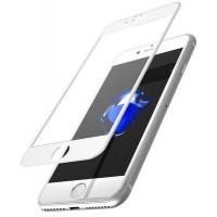 Стъклен протектор за целият екран за iPhone 6/6S Plus бял 5D