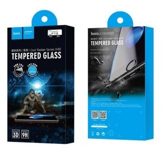 Стъклен протектор за целият екран за iPhone 7 / 8 HOCO Cool Radian Tempered Glass Full Cover 0.23 mm черен