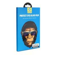 Стъклен протектор за целият екран за iPhone X / XS / 11 Pro черен 5D Mr. Monkey (Strong Anti-Blue)
