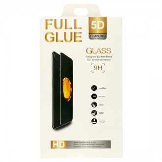 Стъклен протектор за целият екран за iPhone XR черен 5D