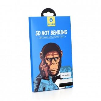 Стъклен протектор за целият екран за iPhone XS Max черен 5D Mr. Monkey (Hot Bending)