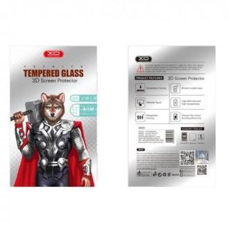 Стъклен протектор за целият екран за iPhone XS Max Full cover XO Design FD7 черен