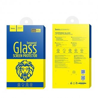 Стъклен протектор за целият екран за Samsung G960 S9 HOCO черен