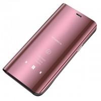 Страничен калъф кейс Clear View Cover за Samsung A10 розов