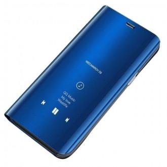 Страничен калъф кейс Clear View Cover за Xiaomi Mi 9 син
