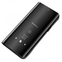Страничен калъф кейс Clear View Cover за Xiaomi Redmi Note 7 черен