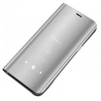 Страничен калъф кейс Clear View Cover за Xiaomi Redmi Note 7 сребърен