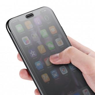 Страничен калъф с активен капак Baseus за iPhone XS / iPhone X черен