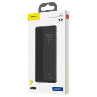 Страничен калъф тип тефтер Baseus Smart View Flip Cover (LTHWP30-YP01) за Huawei P30 черен