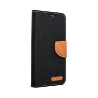 Страничен калъф тип тефтер Canvas Book за Samsung A42 5G, Черен