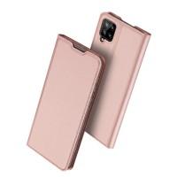 Страничен калъф тип тефтер DUX DUCIS за Samsung A12, розов