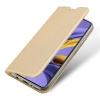 Страничен калъф тип тефтер DUX DUCIS за Samsung A12, Златен