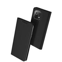 Страничен калъф тип тефтер DUX DUCIS за Xiaomi MI 11 Lite / MI 11 Lite 5G, Черен