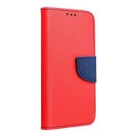 Страничен калъф тип тефтер Fancy Book за Huawei Y6 2017 / Huawei Y5 2017, червен