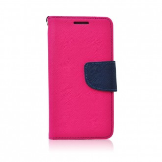 Страничен калъф тип тефтер Fancy Book за Nokia Lumia 435, розов