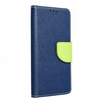 Страничен калъф тип тефтер Fancy Book за Samsung A12, Син