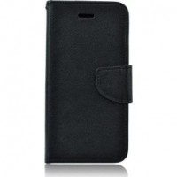 Страничен калъф тип тефтер Fancy за Samsung Galaxy S5 черен