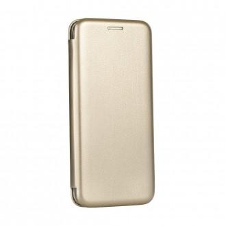 Страничен калъф тип тефтер Forcell Elegance за iPhone X/XS златен
