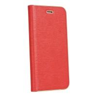 Страничен калъф тип тефтер Luna Book за iPhone SE 2020 / iPhone 7 / iPhone 8, Червен