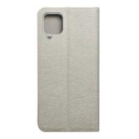 Страничен калъф тип тефтер Luna Book за Samsung A12, Silver