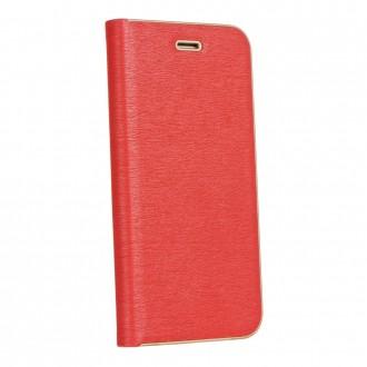 Страничен калъф тип тефтер Luna Book за Samsung A750 A7 2018 червен