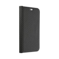Страничен калъф тип тефтер Luna Carbon за iPhone SE 2020 / iPhone 7 / iPhone 8, Черен