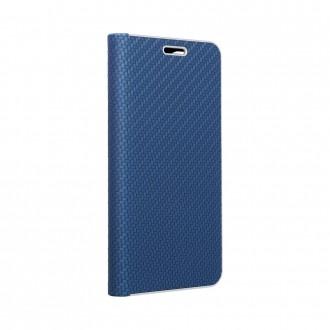 Страничен калъф тип тефтер Luna Carbon за Samsung A51, Син