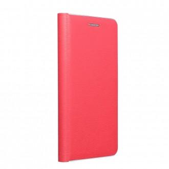 Страничен калъф тип тефтер Luna Silver за Samsung A72 5G, Червен